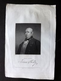 Gallery of Distinguished Americans C1835 Print. Isaac Sheley